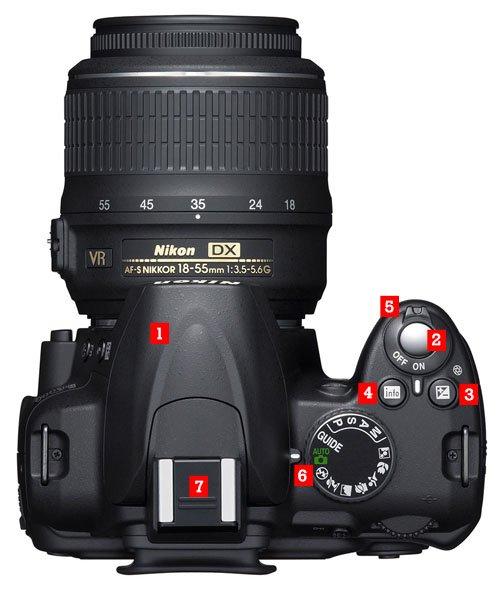 Camara Nikon D3200 Arriba