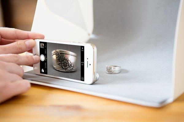 Estudio Softbox portatil para fotografía de producto.