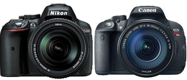 Comparación entre la Nikon D5300 y la Canon EOS Rebel T5i