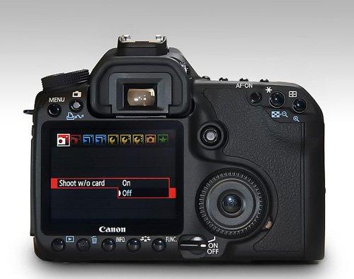 Menu de cámara canon