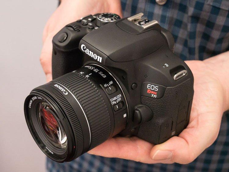 Canon EOS Rebel T7i con Wi-Fi, NFC y 45 puntos de enfoque